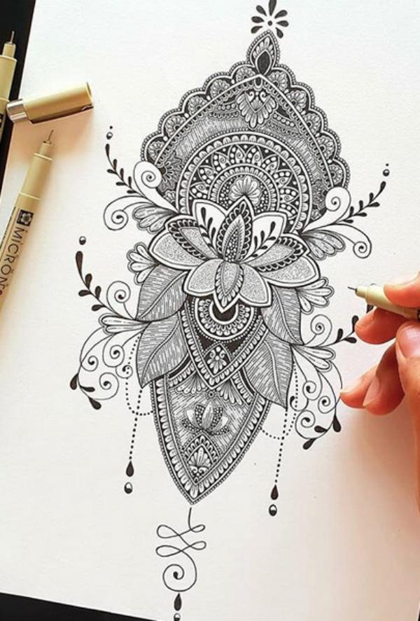 How to draw a Mandala | 75 Simple Mandala Drawing Ideas ...