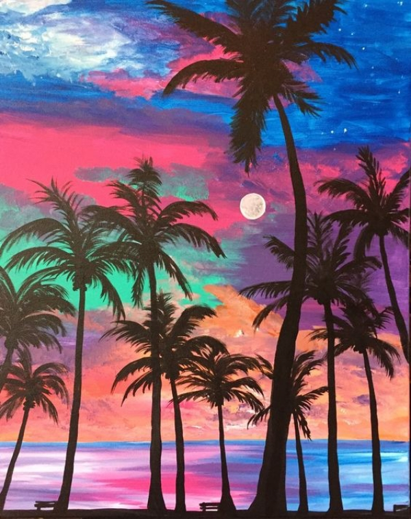 70 Easy And Beautiful Canvas Painting Ideas For Beginners To Try Page 5 Of 6