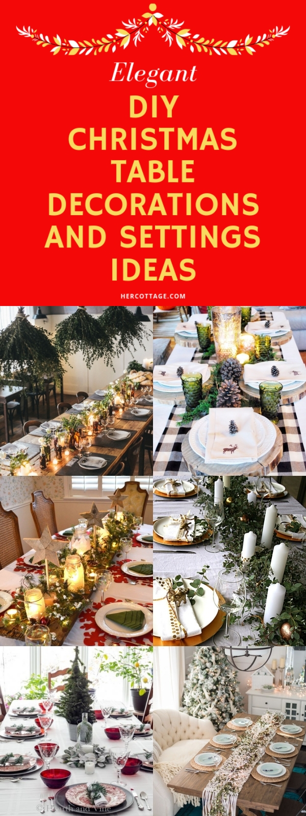 40 Elegant Diy Christmas Table Decorations And Settings Ideas Hercottage