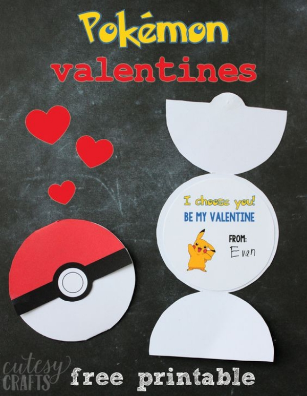 Pokemon Valentine Card Idea