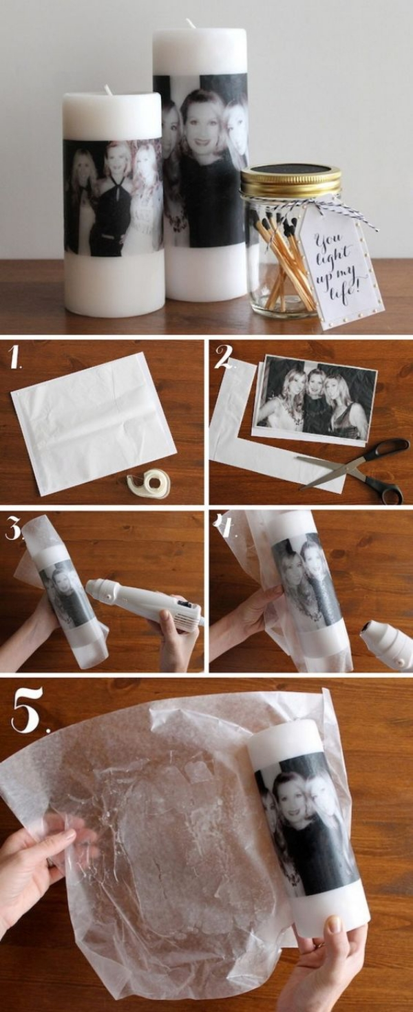 Photo Candle Gift Idea