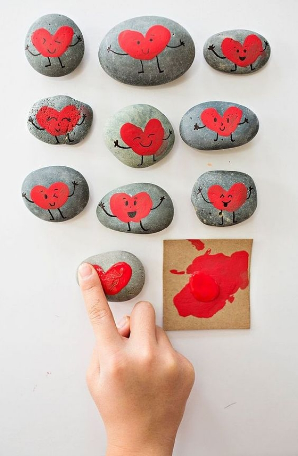 DIY Stone Painting Gift Idea